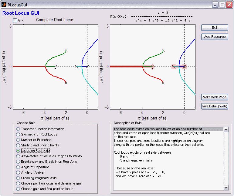 Root Locus Gui for Matlab (RLocusGui) - Erik Cheever